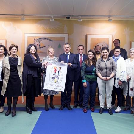 Representantes de Fedeafes con el lehendakari Urkullu y el Consejero Ángel Toña